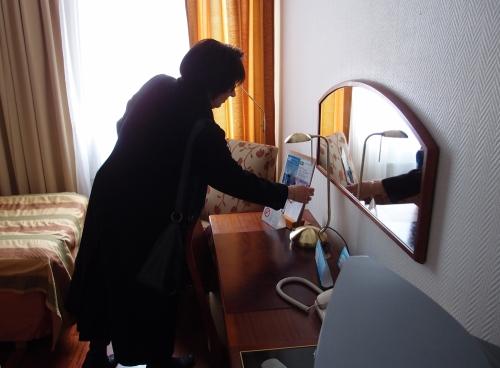 Hyvästi mukava hotellimme
