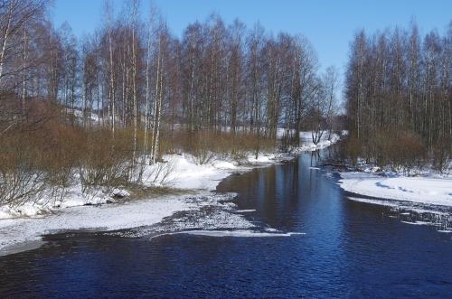 Kytäjoen alku Kytäjärven padon luona