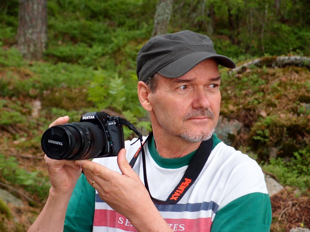Blogimies ja kamera