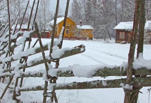 Vaiveron Myllytila lumipyryn jälkeen  (15.3.)