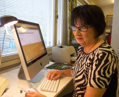 Toimistonhoitaja, laskuttaja, reskontra, huolenpitäjä, vaimoni Ritva