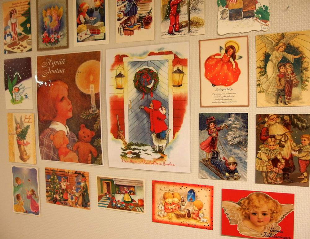 Vanhat joulukortit, Pakilakoti, Helsinki
