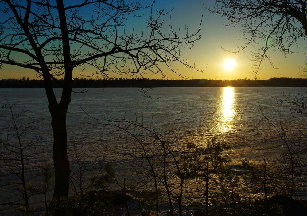 Jään peittämä Heinijärvi, Tammela