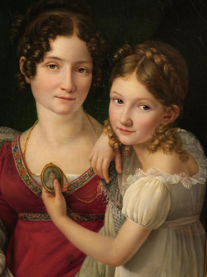 Muotokuva äidistä tyttärensä kanssa (Henri François Riesener, 1816)