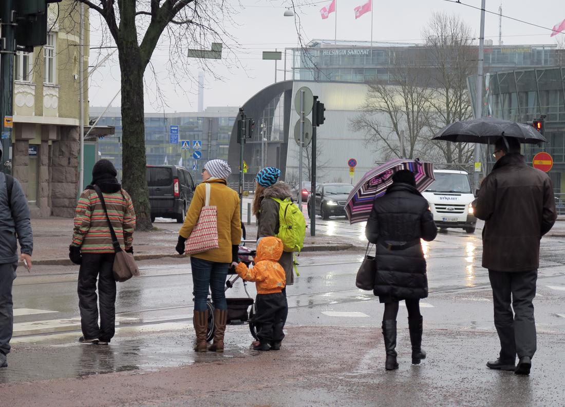 Helsingin sateessa