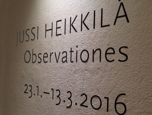 Jussi Heikkilä Observationes
