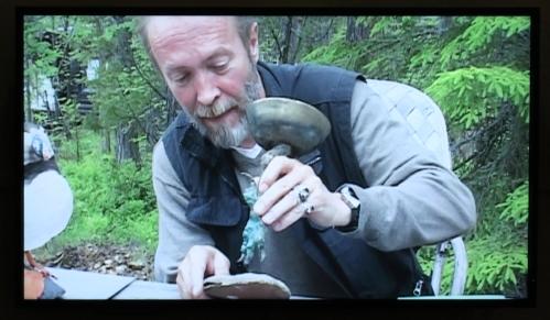 Jussi Heikkilä (kuvattu näyttelyn videosta)