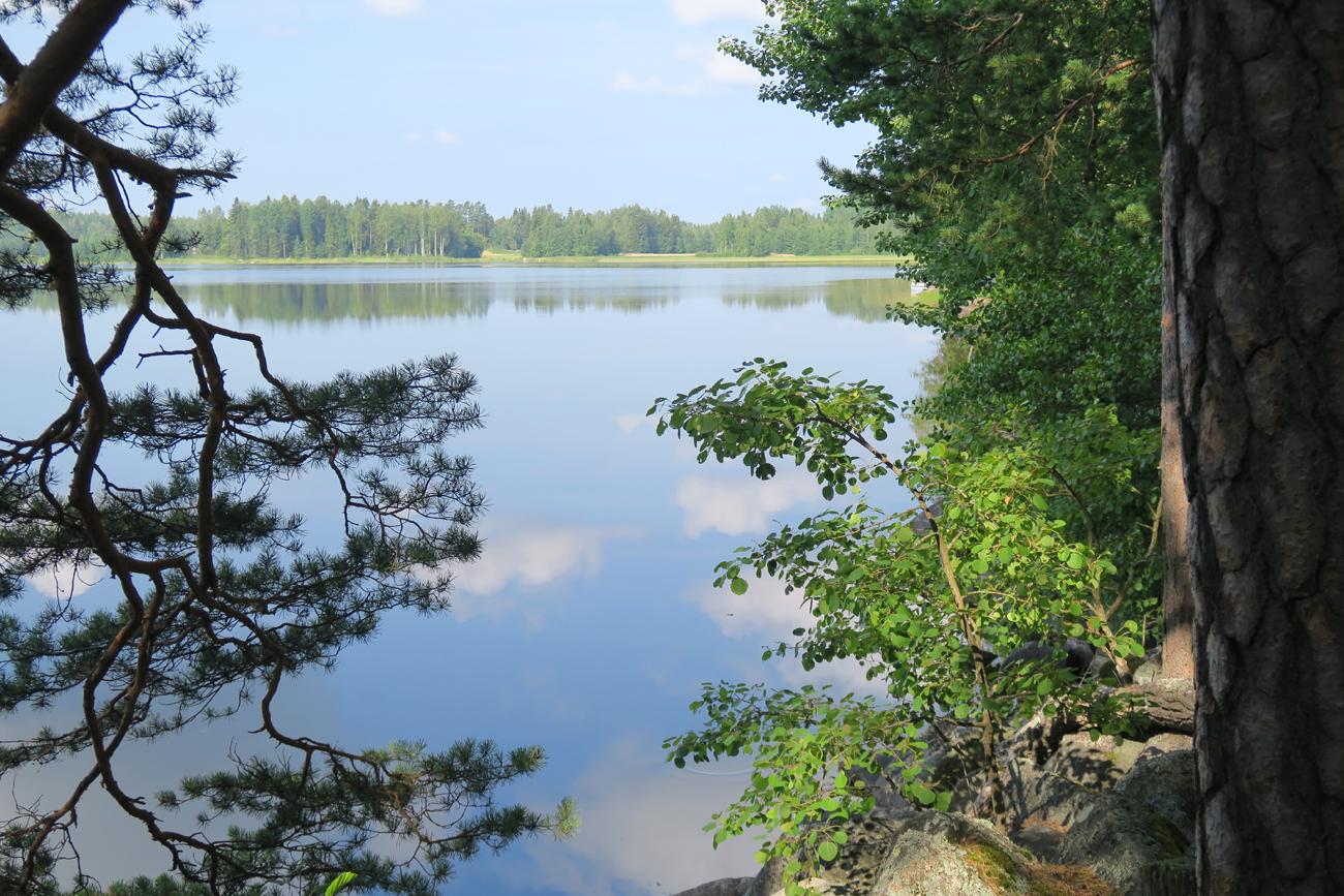Heinäkuinen aamu valkenee Tammelan Heinijärvellä